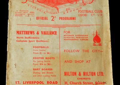 Stoke v Aston Villa 12.11.1938