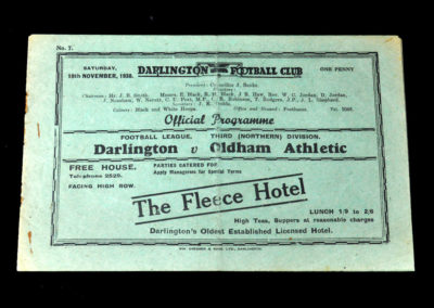 Darlington v Oldham 19.11.1938