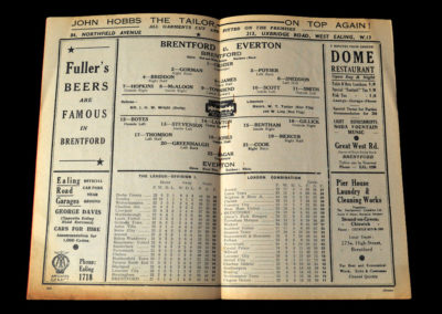 Brentford v Everton 31.12.1938