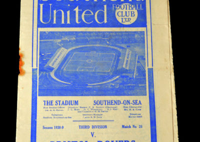 Southend v Bristol Rovers 14.01.1939