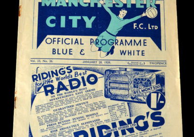 Man City v Blackburn 28.01.1939