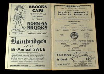 Newcastle Reserves v Bolton Reserves 28.01.1939