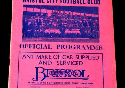 Bristol City v Clapton 28.01.1939