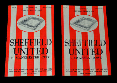 Sheff Utd v Man City 25.02.1939 | Sheff Utd v Swansea 11.03.1939