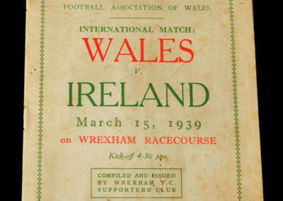 Wales V Ireland 15.03.1939