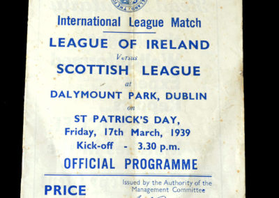 Irish League v Scottish League 17.03.1939