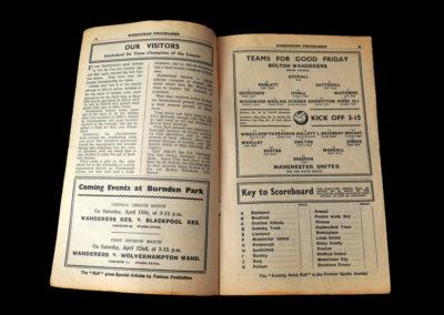 Bolton reserves v Man Utd Reserves 07.04.1939 | Bolton v Sunderland 08.04.1939