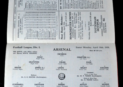 Arsenal v Blackpool 10.04.1939