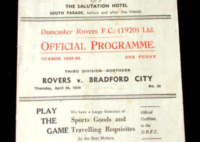 Doncaster v Bradford City 20.04.1939