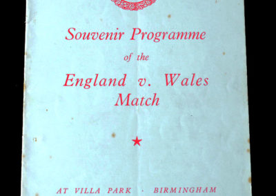 England Schools v Wales Schools 20.05.1939