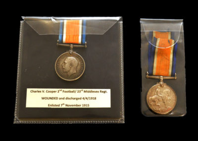 1918 Football Palls Battalion Medals