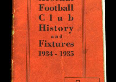 1934/35 Arsenal Season Handbook