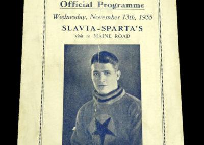 Man City v Slavia Prague 13.11.1935