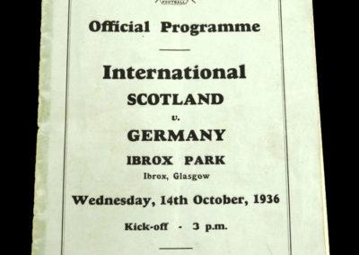 Scotland v Germany 14.10.1936