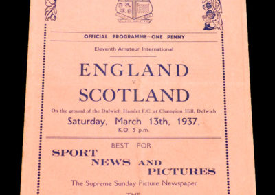 England v Scotland 13.03.1937 (Amateur Match)