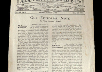 Arsenal v Everton 21.03.1925