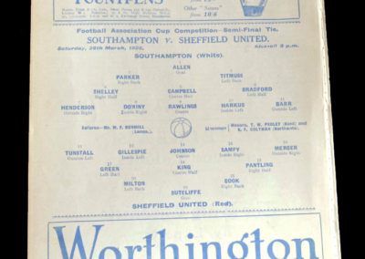 Southampton v Sheffield United 28.03.1925 - FA Cup Semi Final