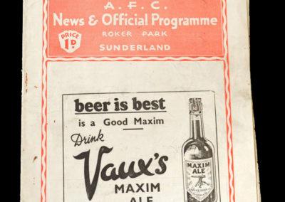Sunderland v Bolton 07.12.1935