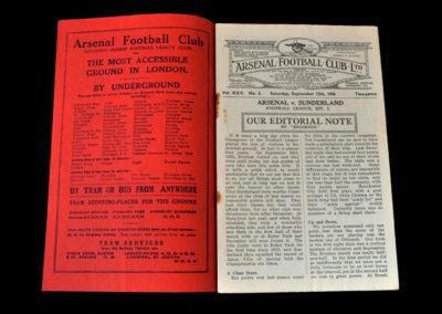 Arsenal v Sunderland 12.09.1936