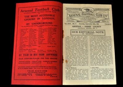 Arsenal v Derby 26.09.1936
