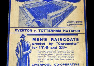 Everton v Spurs 20.02.1937