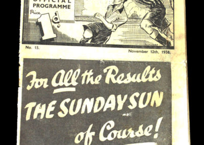 Newcastle v Fulham 12.11.1938