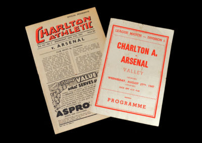 Arsenal v Charlton 27.08.1947