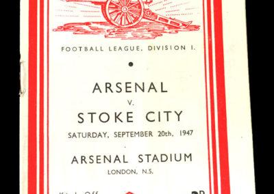 Arsenal v Stoke City 20.09.1947