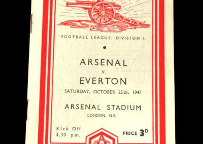 Arsenal v Everton 25.10.1947