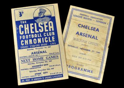 Arsenal v Chelsea 01.11.1947