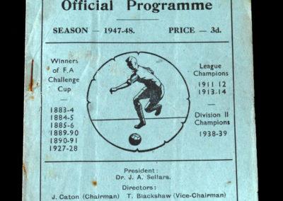 Arsenal v Blackburn 15.11.1947