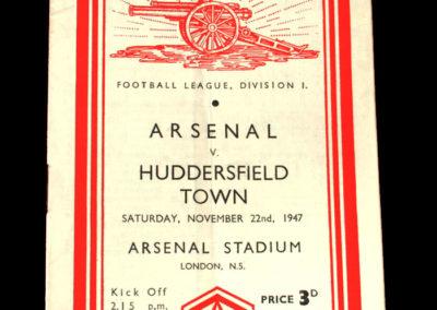 Arsenal v Huddersfield 22.11.1947