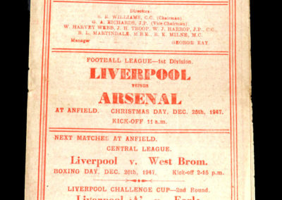 Arsenal v Liverpool 25.12.1947