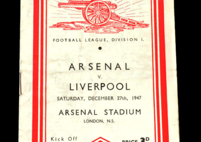Arsenal v Liverpool 27.12.1947