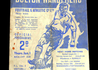 Arsenal v Bolton 01.01.1948