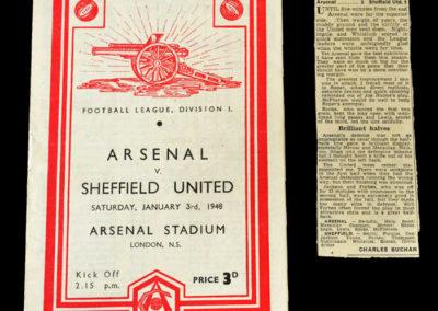Arsenal v Sheff Utd 03.01.1948