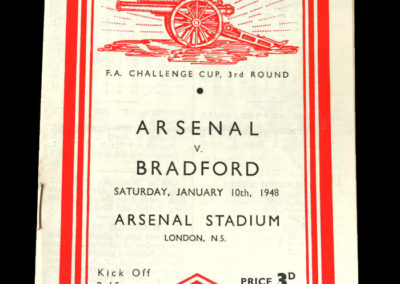 Arsenal v Bradford Park Ave 10.01.1948