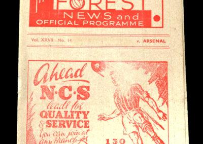 Arsenal v Notts Forest 24.01.1947 - Friendly