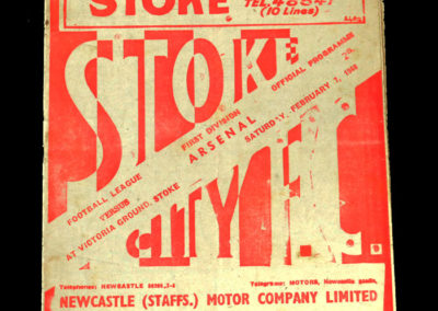Arsenal v Stoke 07.02.1948