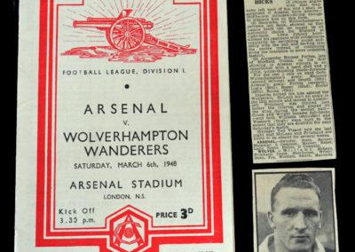 Arsenal v Wolves 06.03.1948