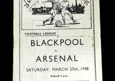 Arsenal v Blackpool 27.03.1948