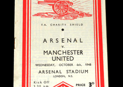 Arsenal v Man Utd 06.10.1948 - Charity Shield