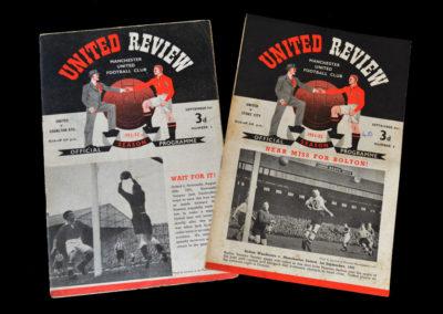 Man Utd v Charlton 05.09.1951 | Man Utd v Stoke 08.09.1951