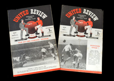 Man Utd v Preston 29.09.1951 | Man Utd v Derby 06.10.1951