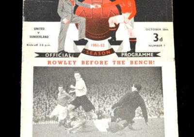 Man Utd v Sunderland 20.10.1951