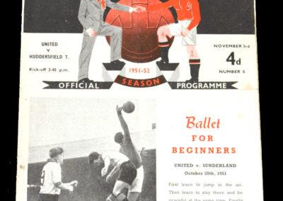 Man Utd v Huddersfield 03.11.1951