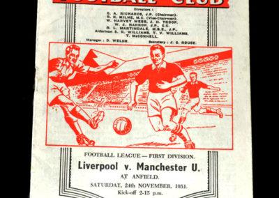 Man Utd v Liverpool 24.11.1951