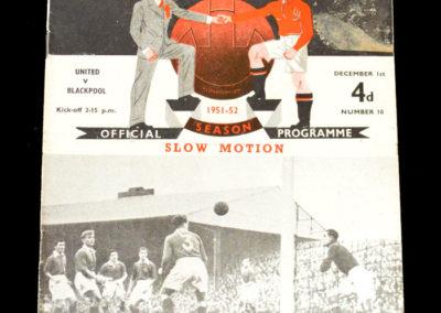 Man Utd v Blackpool 01.12.1951