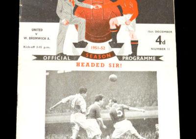 Man Utd v West Brom 15.12.1951