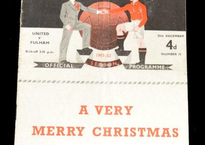 Man Utd v Fulham 25.12.1951